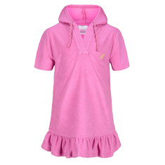 Girls' terry cover up with hood