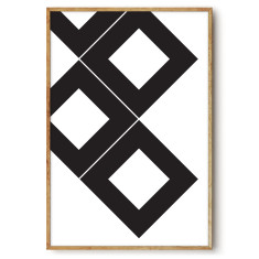 Black Diamond wall art print