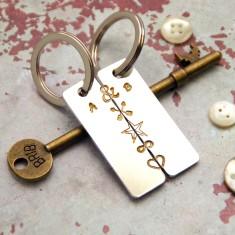 You Make Me Whole Couple's Key Ring Set