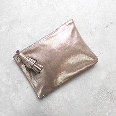 Masai mara clutch in Rose Gold