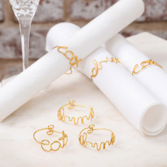 Gold Wire Napkin Rings (Set of 6)