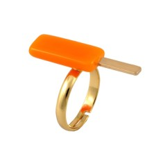 Orange ice cream ring