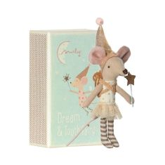 Mouse Tooth Fairy Girl in Matchbox