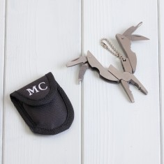 Personalised 10 in 1 Multi Tool Keyring & Storage Pouch