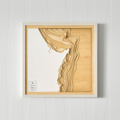 Wooden 3D Contour Map of Byron Bay