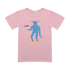 Stanley birthday cake kids pink t-shirt