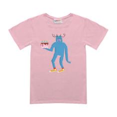 Stanley birthday cake kids pink t-shirt