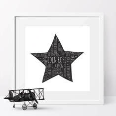 Star Bright Personalised Typographic Art