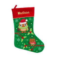 Personalised Owl Friends Christmas Stocking
