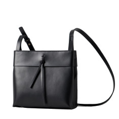 Black leather square lady bag