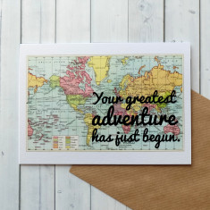 New Baby Card - Your Greatest Adventure Has Just Begun