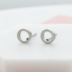 You're in my circle studs in silver
