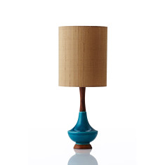 Electra small table lamp in gold raw silk