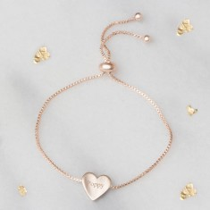Flora Personalised Heart Bracelet
