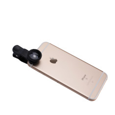Universal smartphone camera clip lens