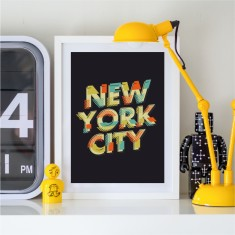 New York City Typographic Print