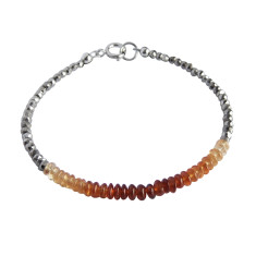 Spessartine Garnet and Pyrite Bracelet
