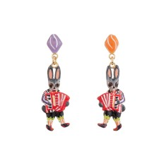 Accordionist little rabbit earrings