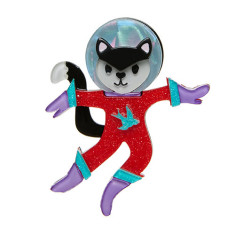 Erstwilder cosmic kitty brooch