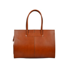 New Cartella tan leather work bag