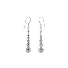 Silver balls earrings