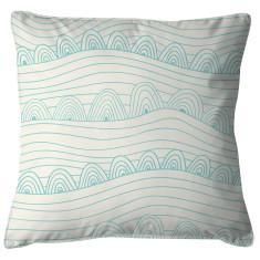 Blue wave scatter cushion