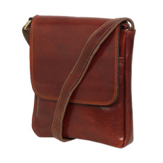 Adriano Brown Leather Satchel