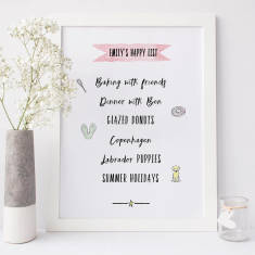 Personalised Happy List Print