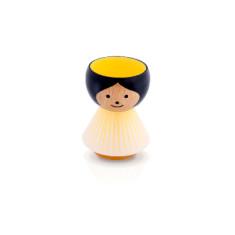 Hand-painted Girl Yellow Sunrise Danish Egg Cup