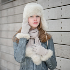 Ladies Alpaca Fur Trapper Hat