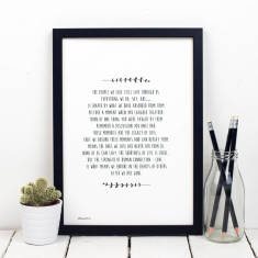 Bereavement Sympathy Poem Print