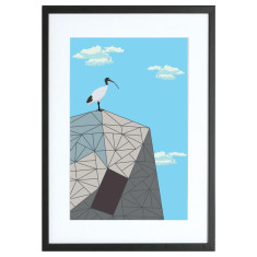 Ibis on federation square Melbourne print