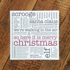 So here it is merry Christmas card (pack of 6)