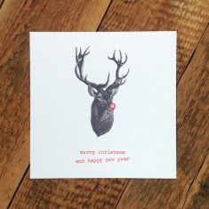 Rudolph Christmas card (pack of 6)