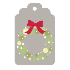 Xmas Gift Tags: Wreath and Joy (Pack of 12)