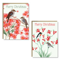 Christmas bloom cards (set of 8)