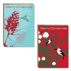 Christmas bird cards (set of 8)