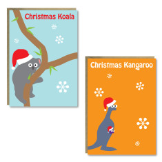 Christmas animal cards (set of 8)
