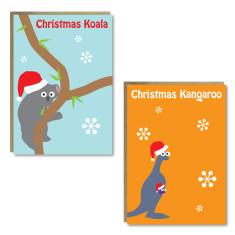 Christmas animal cards (set of 8)