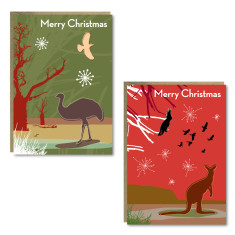 Christmas outback cards (set of 8)