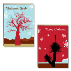 Christmas tree cards (set of 8)