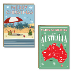 Christmas Australia cards (set of 8)