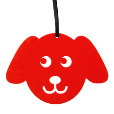 Red puppy Christmas decoration
