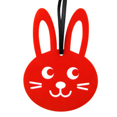 Red bunny Christmas decoration