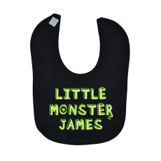 Personalised 'Little Monster' Baby Bib