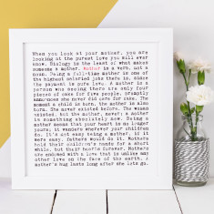 Mother typographic print