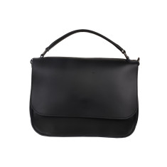 Missy Black Leather Tote Bag