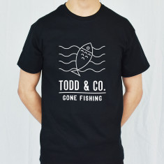 Gone Fishing Personalised Adventure Men's T Shirt
