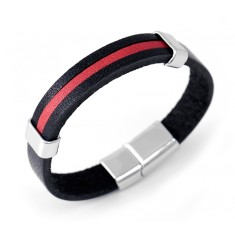 Men's red stripe bracelet