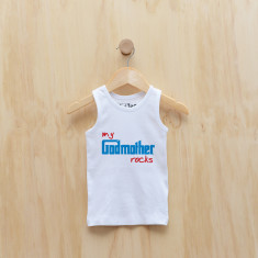 Personalised My godmother rocks singlet (blue or pink)